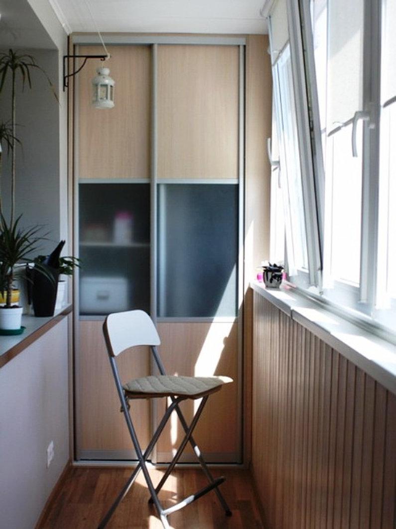 Дизайн узкого балкона фото