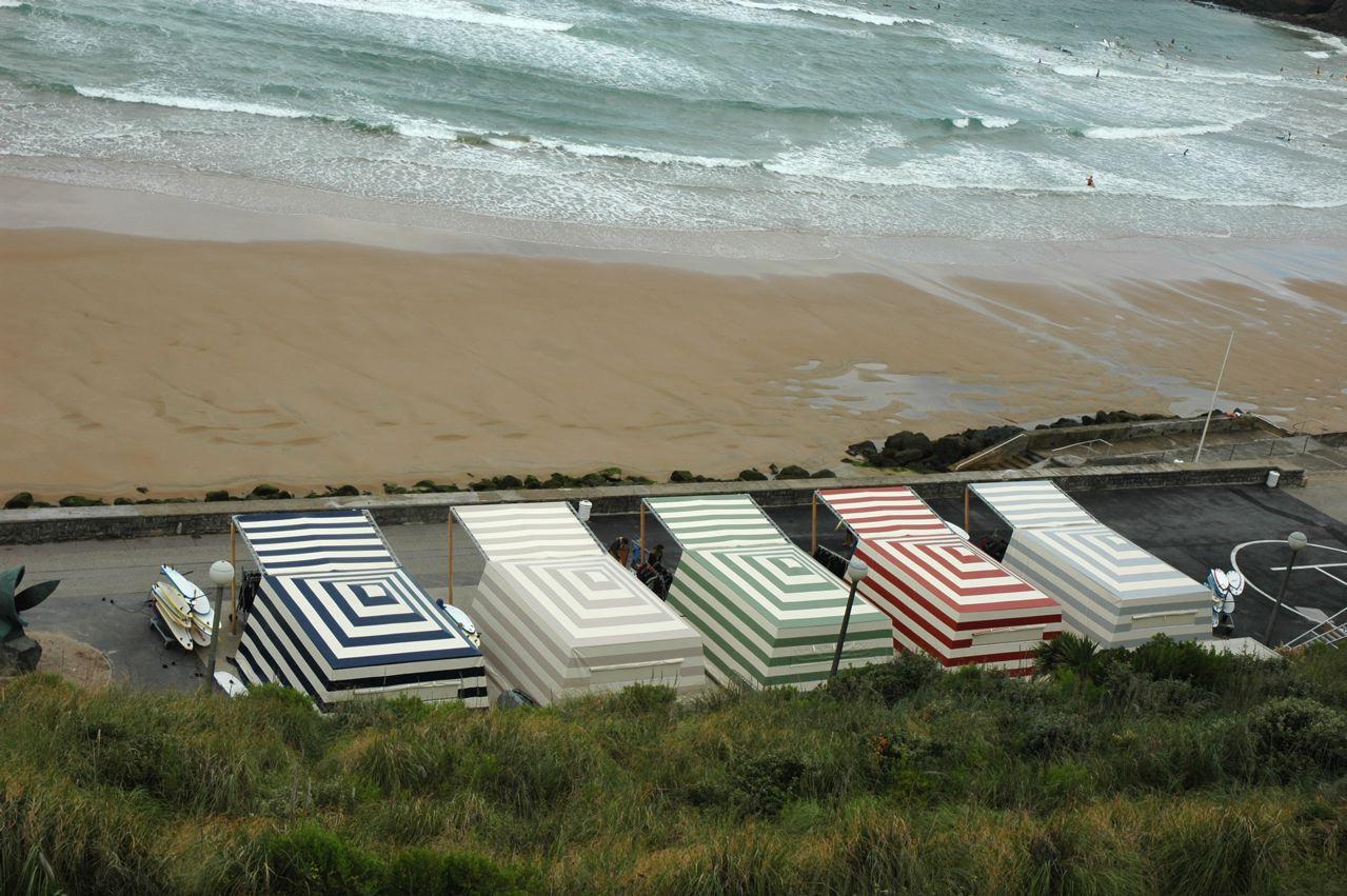 cabine de plage pour école de surf