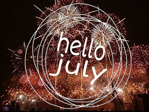 Image result for hello july fireworks