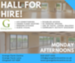 (GF) Hall for Hire Advert - Monday After