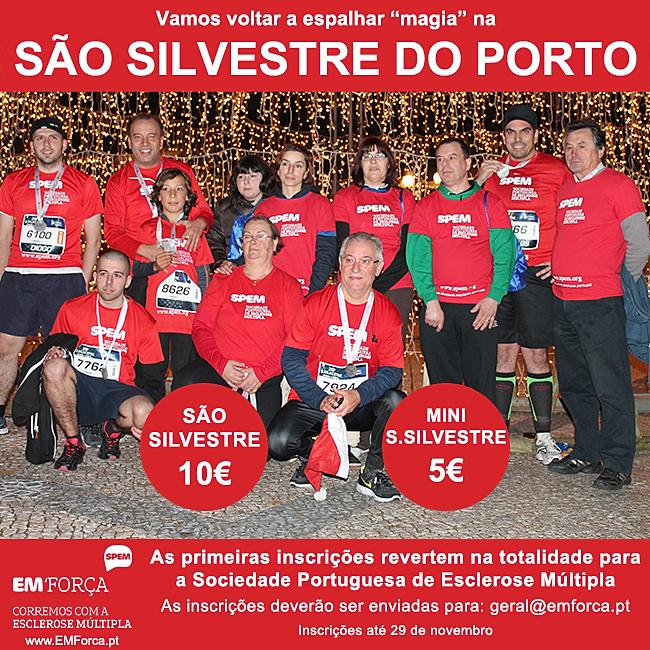 inscrever-se na São Silvestre do Porto junto da EM'Força