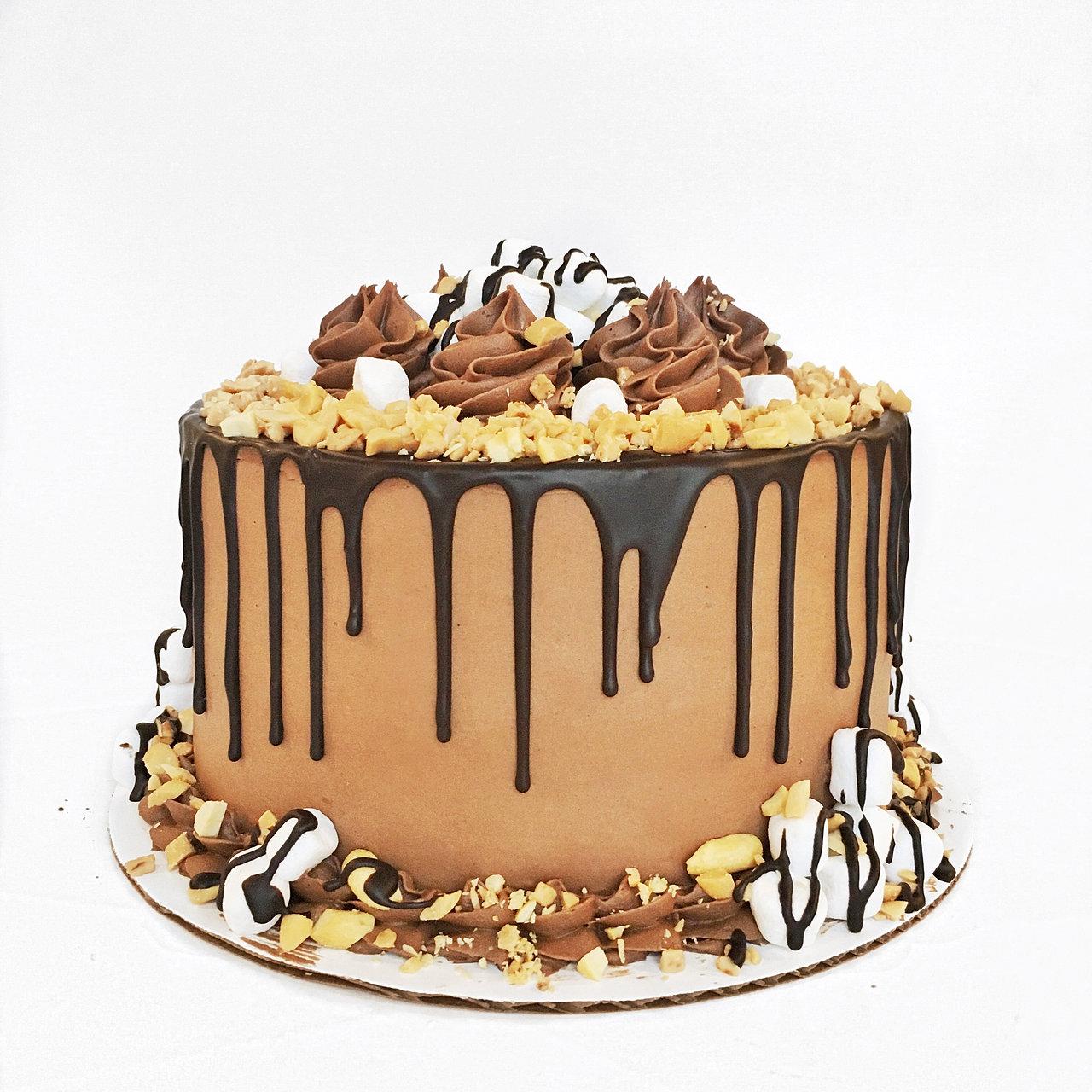 Decorated German Chocolate Cake Cake By Courtney