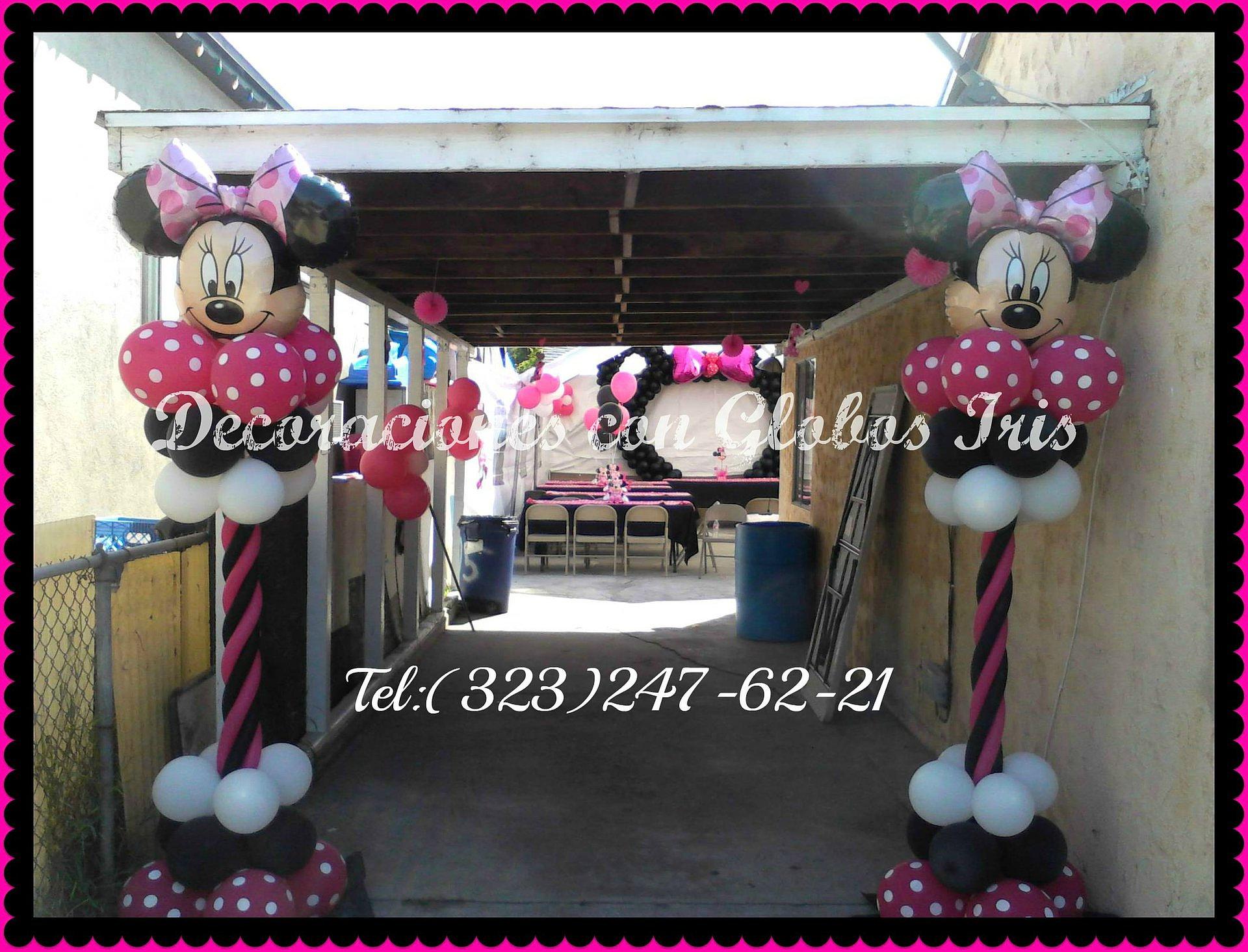 Decoraciones con globos iris decoracion minnie mouse for Decoracion minnie mouse