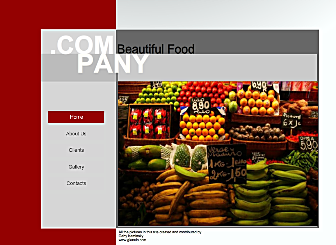 Food Court Template - This Modern looking Website template is easy to customize and lets you present all your products and offers that your customers are looking for in real time. Just edit to make it your own in no time at all