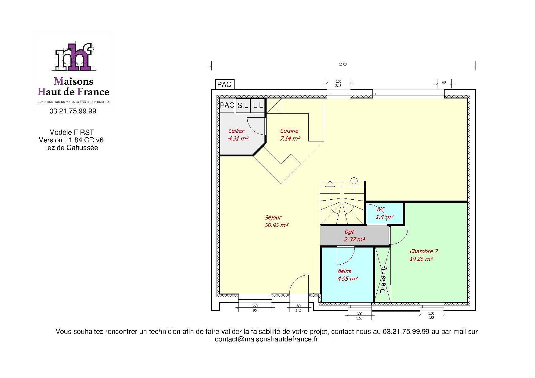 Maison haut de france gallery of france maison m km for Plan maison haut de gamme
