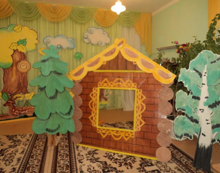 Как сделать декорацию домика для спектакля 192