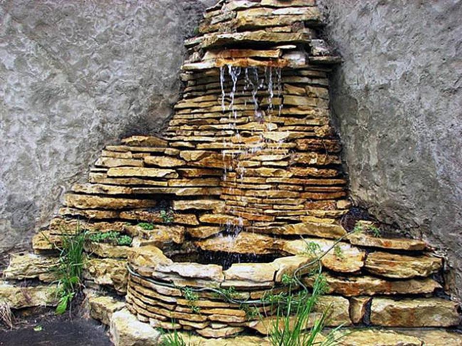 Фото как сделать водопад из камней