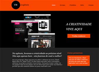 Design Corporativo Template - Um template grátis com cores atraentes e um layout dinâmico para chamar a atenção para sua empresa de design. Descreva seus serviços e adicione imagens para mostrar projetos anteriores. Comece a criar um site de ponta para destacar seu negócio!