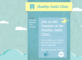 Smile Clinic Template - A sophisticated Website template ideal for the creative professional to showoff your work.  Fully customizable from colors to layout to high quality gallery styles, simply add your own creations and info.