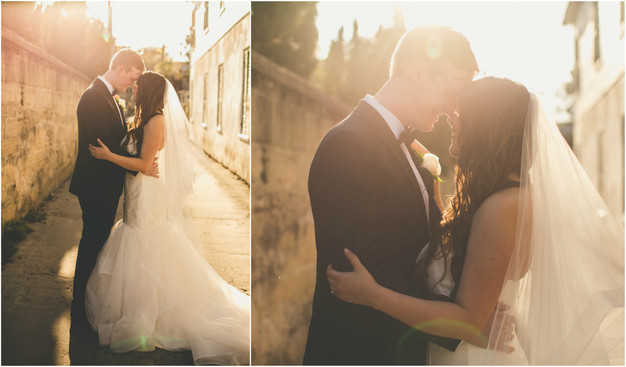 Bride and groom sunset photos, St. Augustine wedding planner