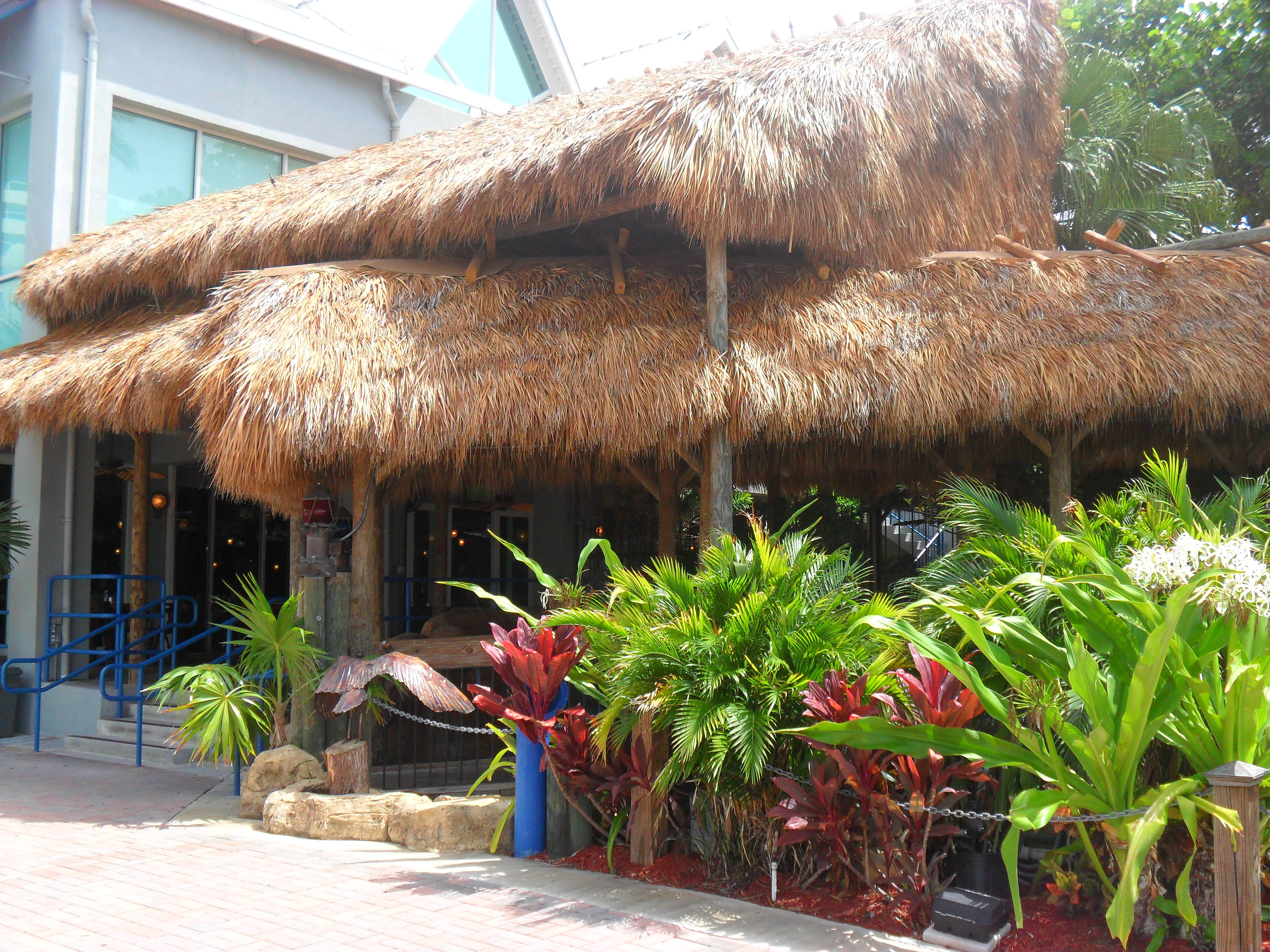 Tiki huts thatch roof fire retardant for Fire resistant roofing