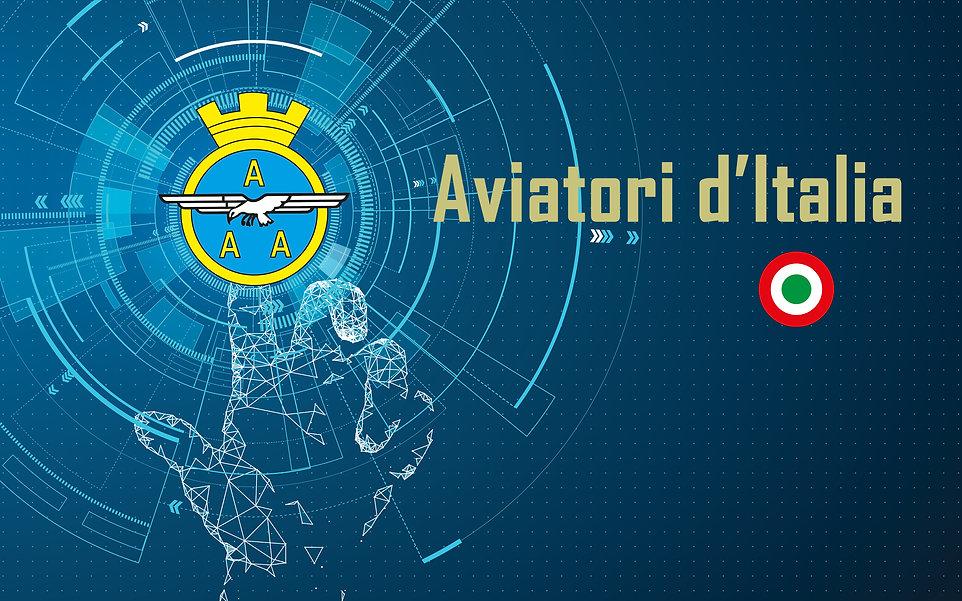 Sfondo Aviatori d'Italia con Logo per Si