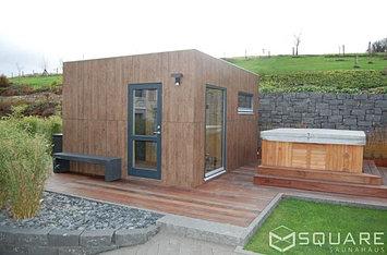 saunahaus square xxl ihr gro es saunahaus edel und multifunktional. Black Bedroom Furniture Sets. Home Design Ideas