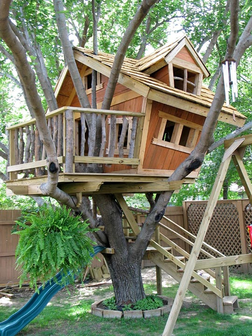 Backyard Treehouse Builders : We build this tree house on your site for $7,450