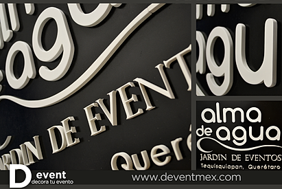 Logotipos devent for Alma de agua jardin de eventos