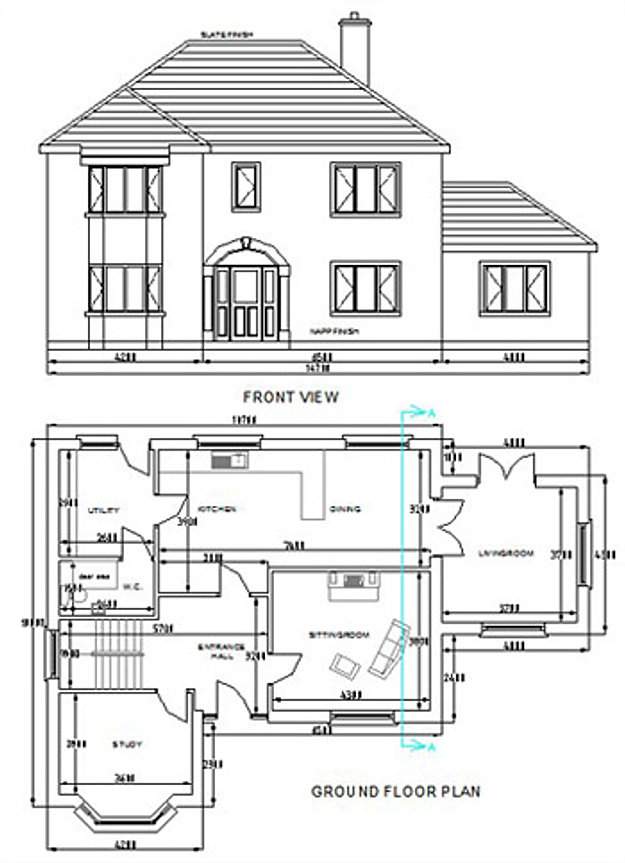 How To Draw Building Plans In Autocad Pdf How Free Custom Home Plans On How To