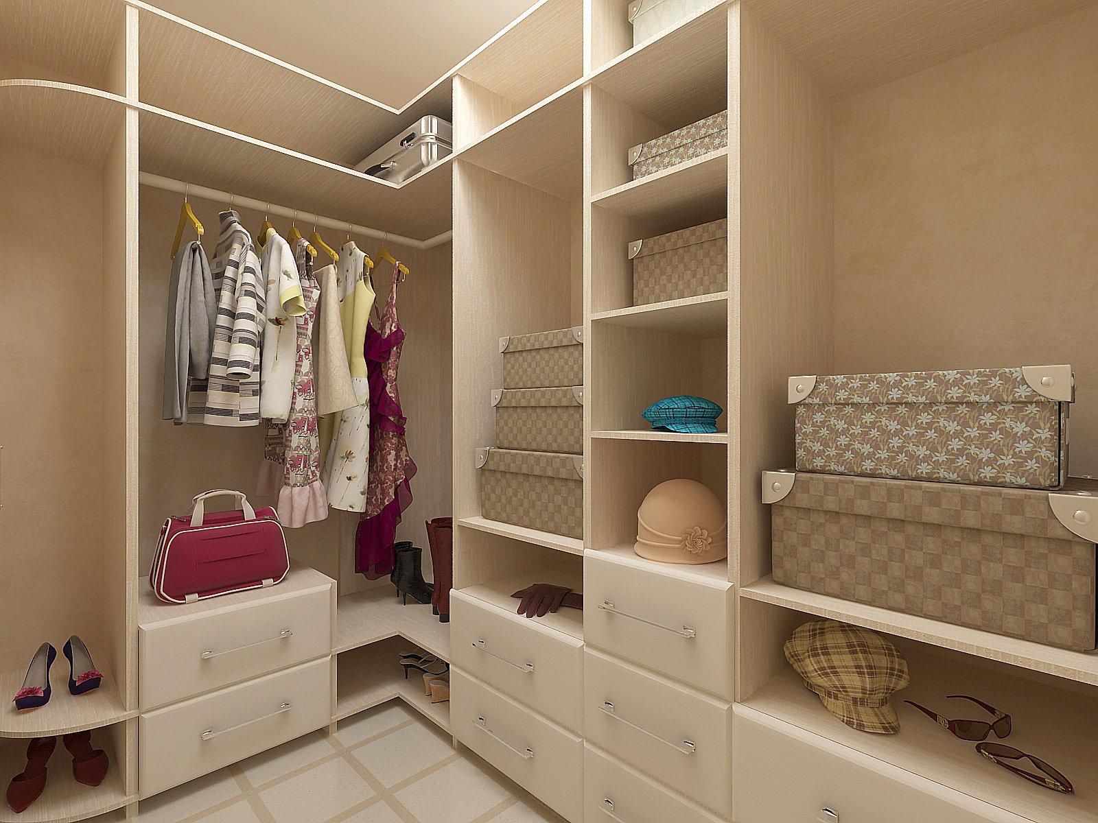 Дизайн маленькой гардеробной фото
