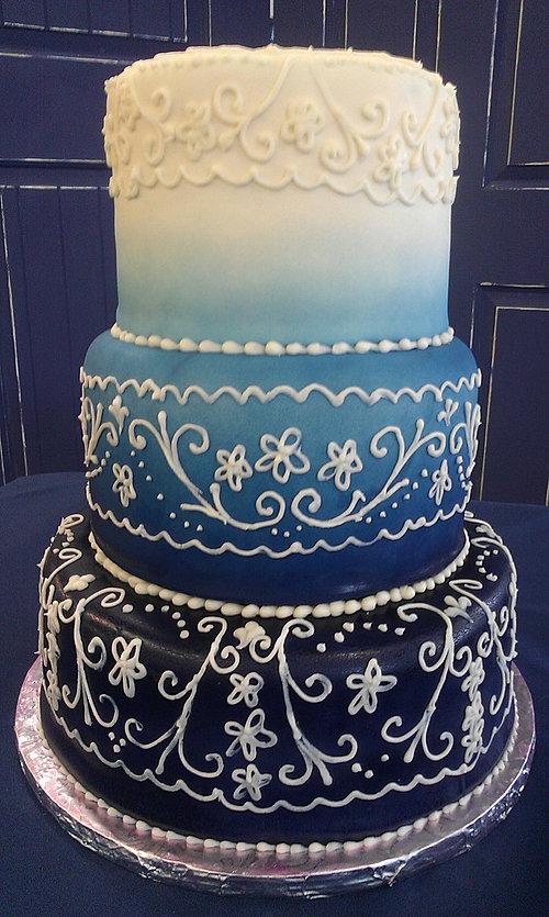 Navy Blue And Purple Wedding Cake Cakes Paisley Blackfoot Idaho