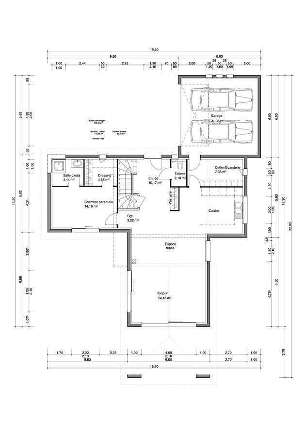 Plan Maison Rdc 3 Chambres. Free Plan Maison Plain Pied Gratuit