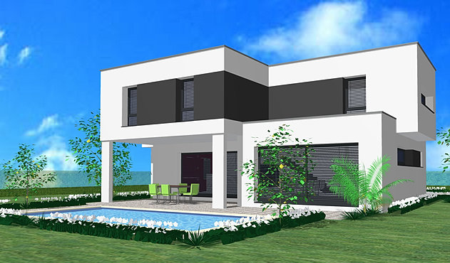 Home cr ation toit plat for Toit terrasse garage