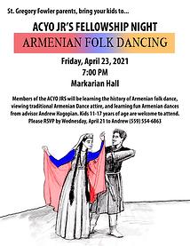 Fellowship Night #2 Armenian Folk Dancing