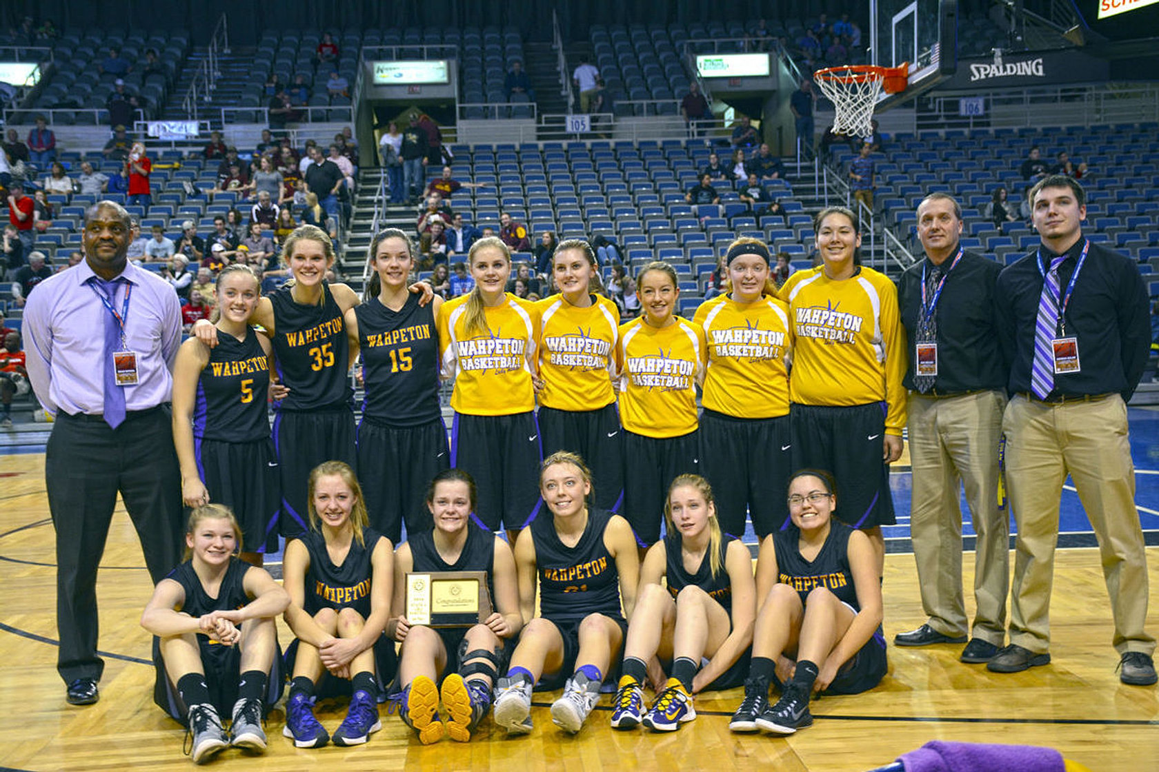 THE LADY HUSKIES PLACE 4TH AT STATE