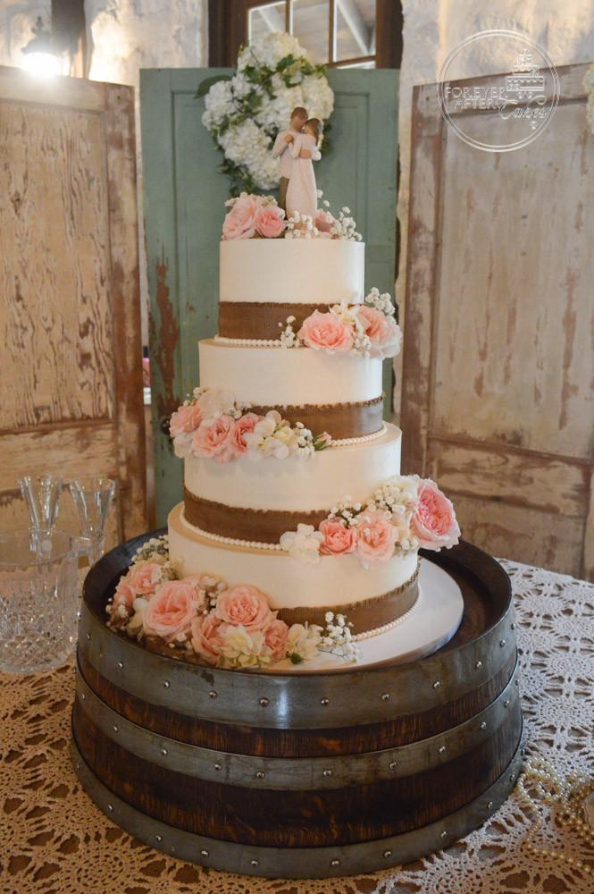 Wedding Cakes Rustic Chic Square