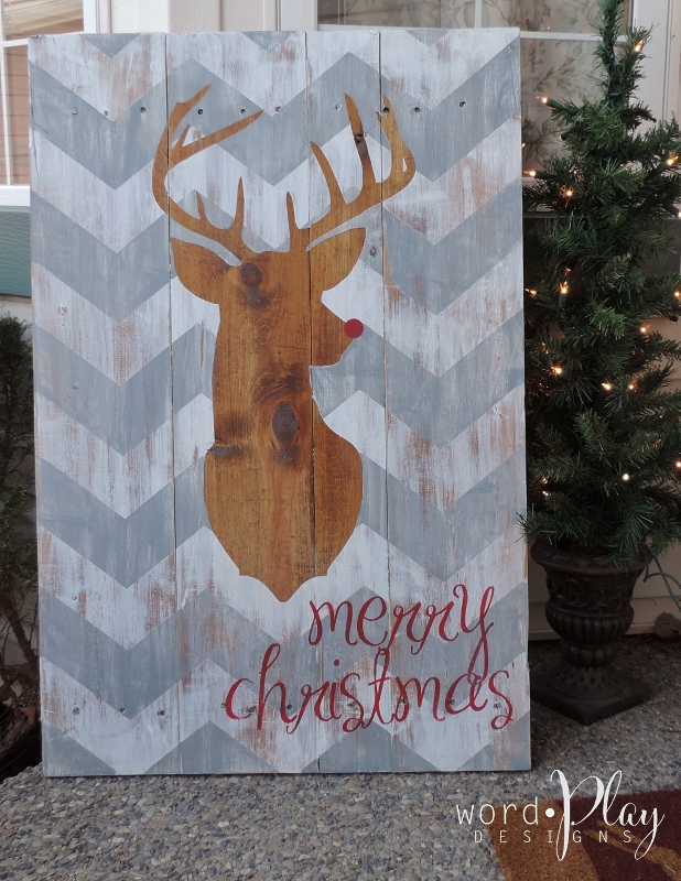 merry christmas pallet sign wordplay designscustom vinyl decals graphics and printscanada - Christmas Pallet Signs