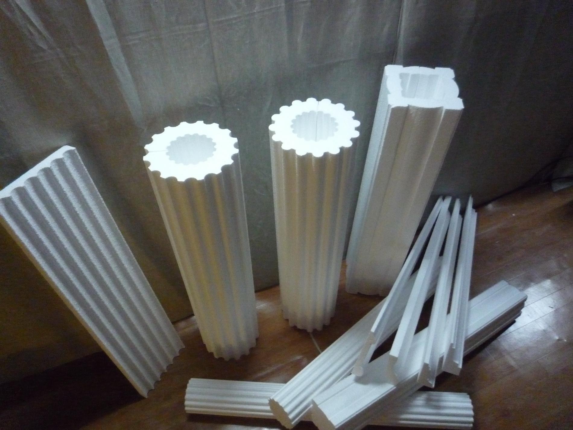 Как сделать колонну из пенопласта своими руками