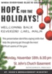 hope for the holidays church brochures 2