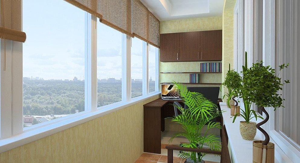 """Ремонт балконов и лоджий под ключ в квартире от компании """"кр."""