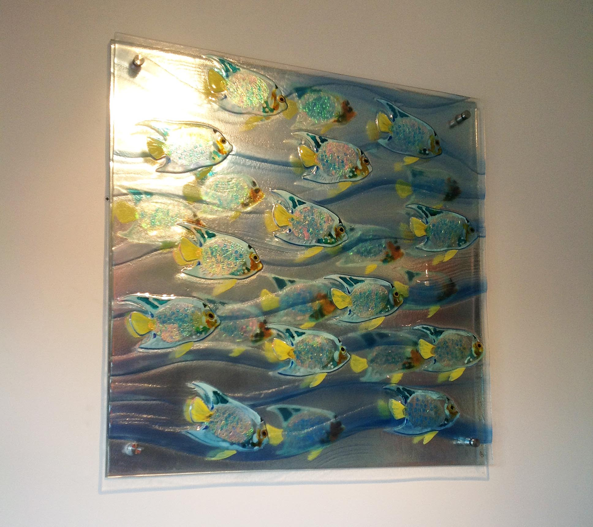 Wall Art Glass Framed : Slumped glass wall art gold coast