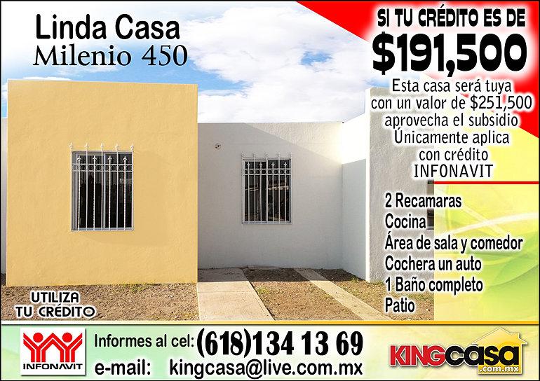 Casas durango milenio 450 for Entradas 4 milenio