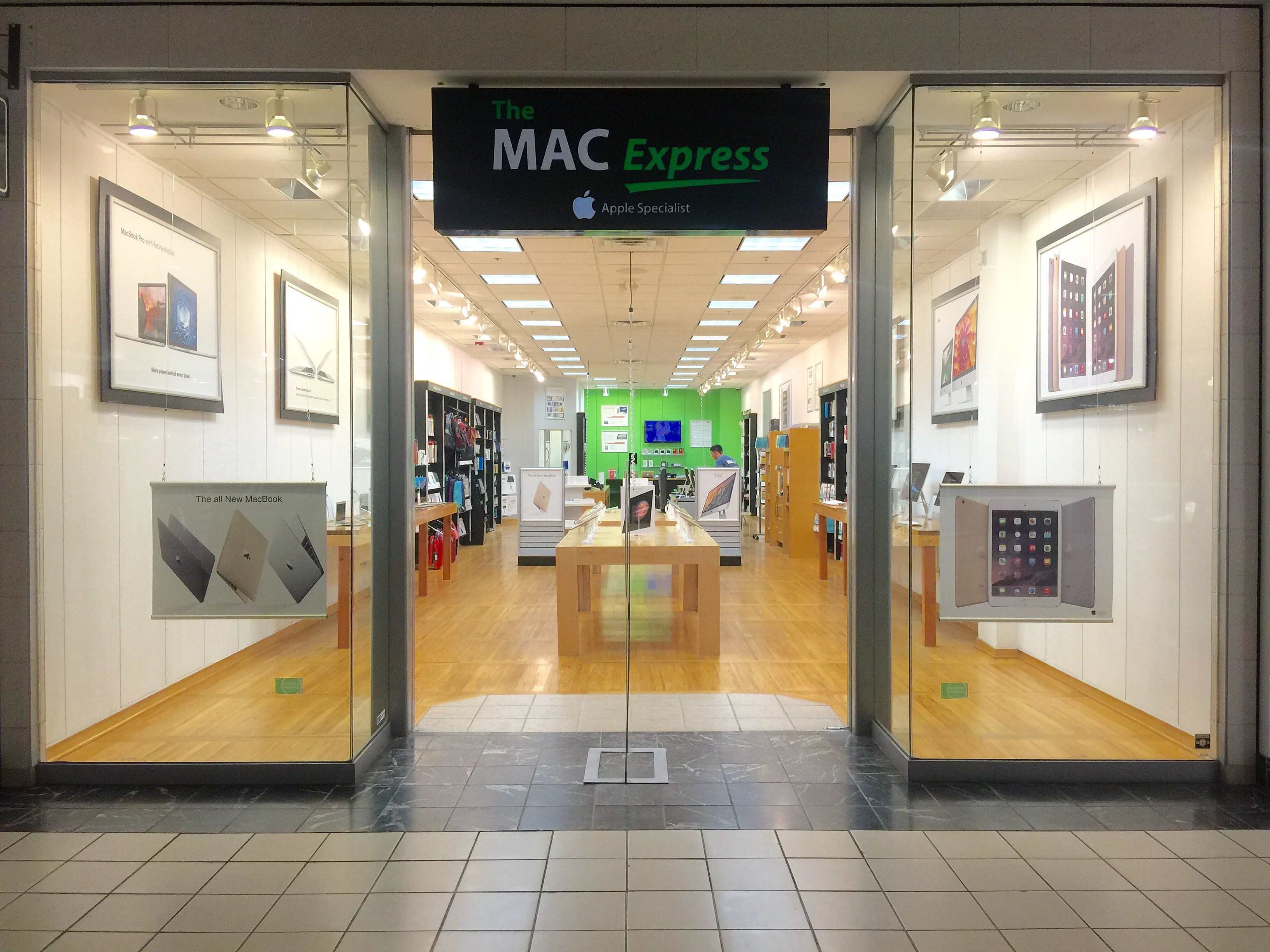 welcome to the mac express macs ipads ipods service training the mac express at cape cod mall. Black Bedroom Furniture Sets. Home Design Ideas