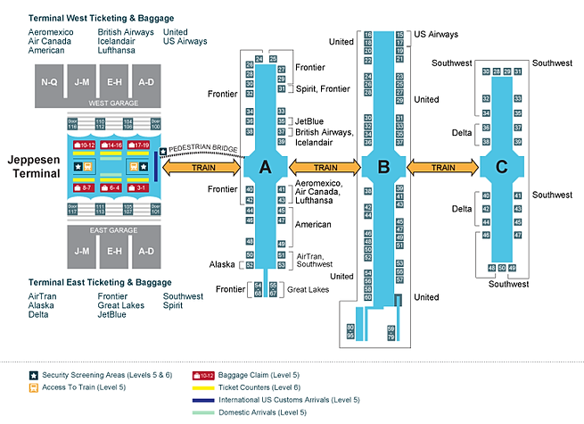 National car rental denver airport map 14
