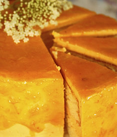 invented this layered orange cake with an orange buttercream frosting ...
