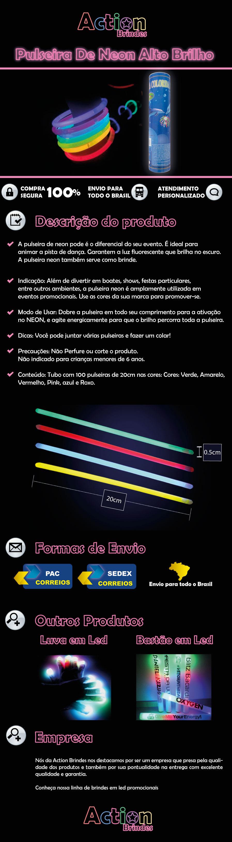 Pulseira De Neon
