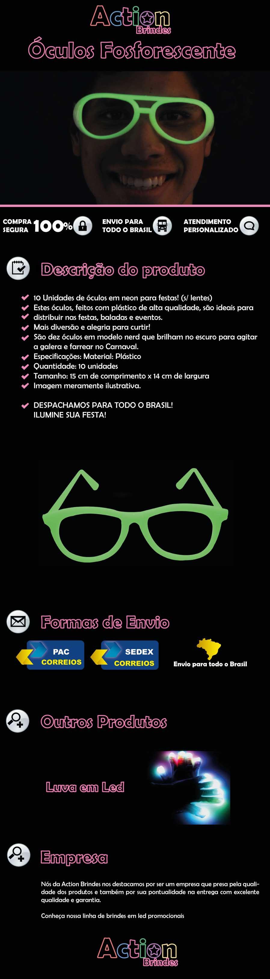 OCULOS DE NEON