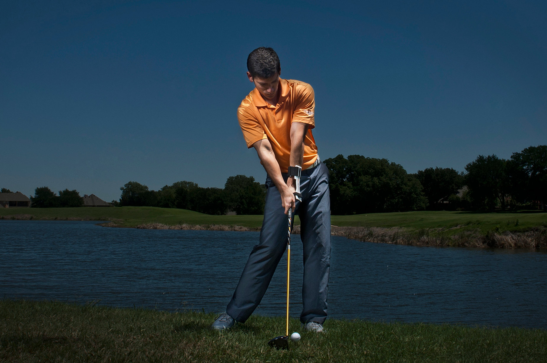 Golf Training Aid Swing Impact