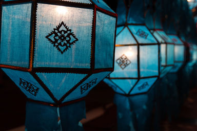 Decorated Lanterns in Lanna Tradition