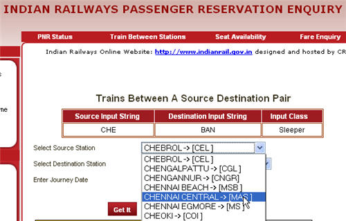 Home | Ministry of Railways | Trains between Stations | Booking Locations |  CRIS | CONCERT | Advertise with CRIS ...
