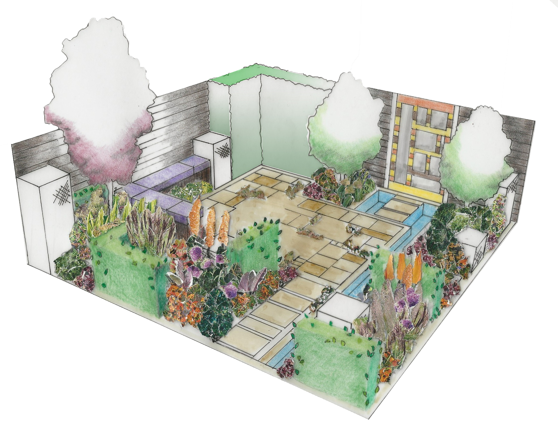 Bbc gardeners world live metamorphosis garden view for Landscape design paper