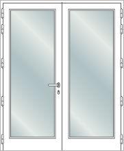 Impact double french door