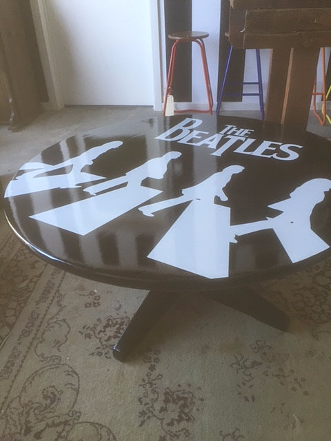 Head over hills abbey road beatles coffee table One of a kind coffee tables
