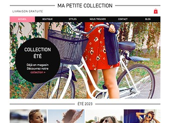 Boutique Collection Template - With modern fonts and stylish design, this eCommerce template is ready to take your retail business or fashion house to the online runway. Use the