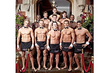 Waiters in the buff