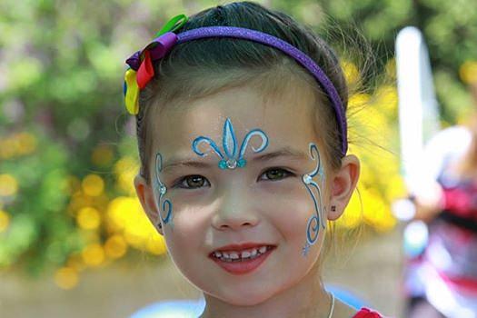 Cinderella Face Paint