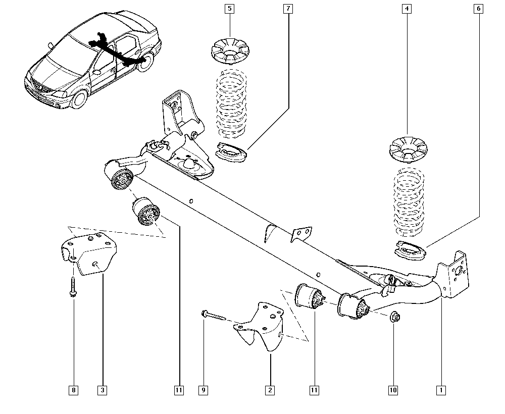 Ремонт задней подвески рено логан
