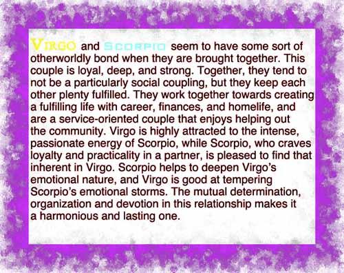 Virgo scorpio sexuality compatibility