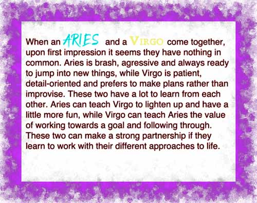 Aries and virgo sexual compatibility